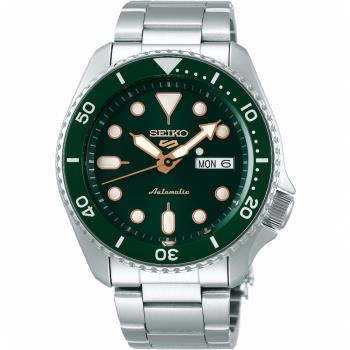 SEIKO 精工 5 Sports 系列綠水鬼機械錶4R36-07G0G(SRPD63K1)-綠/42.5mm