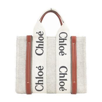Chloe Woody tote bag帆布托特包(小號/焦糖咖色)