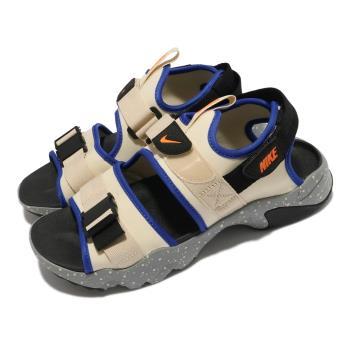 Nike 涼鞋 Canyon Sandal 男女鞋 基本款 魔鬼氈 情侶穿搭 夏日 米白 灰 CI8797202 [ACS 跨運動]