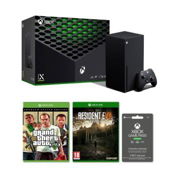 XBOX SERIES X (1TB主機)+Game pass Ultimate 3個月+俠盜獵車手5特別版+惡靈古堡7