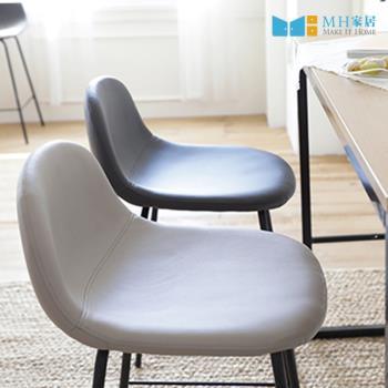 【MH家居】赫爾皮革靠背吧台椅60cm-2入組(高腳椅/吧椅)
