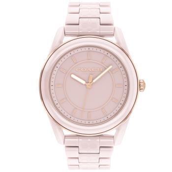 COACH 簡約時尚陶瓷腕錶/粉/38mm/CO14503772