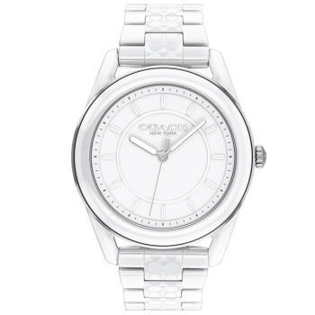 COACH 簡約時尚陶瓷腕錶/白/38mm/CO14503771