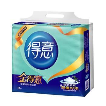 金得意極韌抽取式衛生紙100抽*12包【愛買】