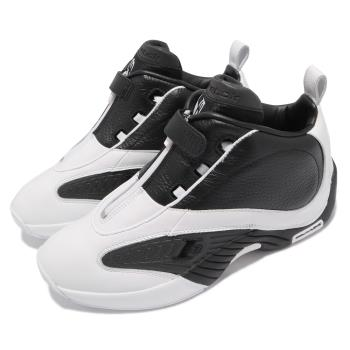 Reebok 籃球鞋 Answer IV 運動 男鞋 明星款 避震 包覆 舒適 穿搭 白 黑 FY9691 [ACS 跨運動]