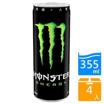 Monster魔爪能量碳酸飲料355ml x4入【愛買】