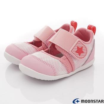 MOONSTAR-日本月星頂級童鞋 -HI系列寶寶學步款- MSB1172粉-13~14.5cm