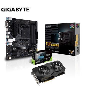 華碩1660S顯示卡組合華碩 DUAL-GTX1660S-O6G-EVO+華碩 TUF GAMING A520M-PLUS*2