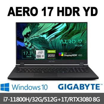 GIGABYTE技嘉 AERO 17 HDR YD 17.3吋UHD(i7-11800HK/32G/512G+1T/RTX3080-8G/W10P)
