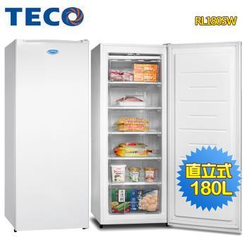 【TECO 東元】180L窄身美型直立式冷凍櫃RL180SW