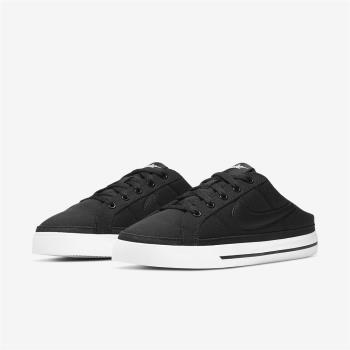 Nike 休閒鞋 Court Legacy Mule 女鞋 基本款 輕便 半包拖 套腳 簡約 穿搭 黑 白 DB3970001 [ACS 跨運動]