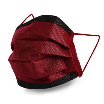 格安德GRANDE 雙鋼印醫用彩色口罩50入/包(成人平面-酒紅色)