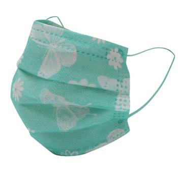 格安德GRANDE 雙鋼印醫用彩色口罩25入/包(成人平面-蝴蝶綠)