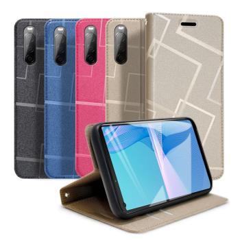 GENTEN for Sony Xperia 10 III 極簡立方磁力手機皮套