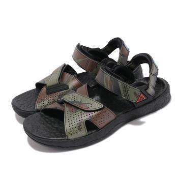 Nike 涼鞋 ACG Air Deschutz 運動 男女鞋 富士山 迷彩 輕便 戶外 舒適 情侶穿搭 黑 綠 CZ3776001