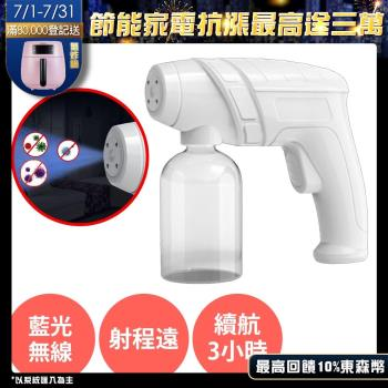 USB(Type C)  紫外線【奈米藍光噴霧酒精噴霧消毒槍】家用室內級消毒殺菌噴霧器 防疫自動消毒機