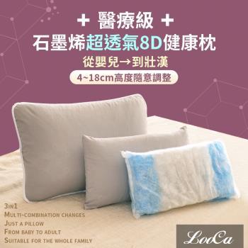 LooCa可調式8D體感沁涼能量好夢枕-醫療級未滅菌