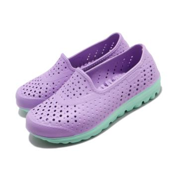 Skechers 休閒鞋 H2go-Waterlillys 水鞋 女鞋 洞洞鞋 雨天必備 快速排水 中大童 紫 綠 86622LLVMT