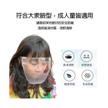 (防疫全套組)加厚CE MIITA防護隔離衣非醫療用(單件包) +半霧面防霧防塵防護面罩3入+口罩10入