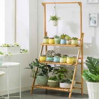 AOTTO 懸掛式可調節三層花架(買就送園藝三件組)