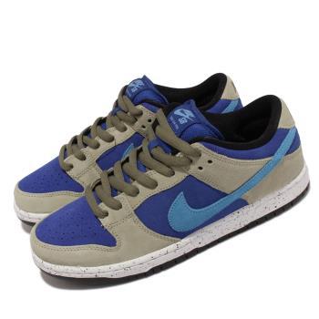 Nike 滑板鞋 SB Dunk Low Pro 麂皮 男女鞋 厚鞋舌 ACG Caldera 情侶款 藍 灰 BQ6817-301