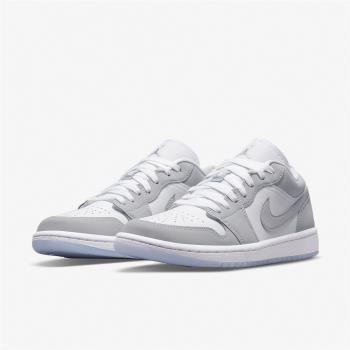 Nike 休閒鞋 限量 W Air Jordan 1代 男鞋 小Dior 低筒 喬丹 AJ1 果凍底 白 灰 DC0774-105 [ACS 跨運動]