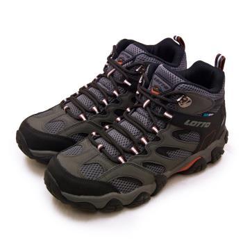 【LOTTO】男 專業多功能防水郊山戶外健行登山鞋 REX ULTRA系列(灰黑 2768)