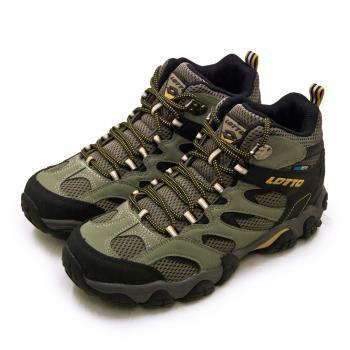 【LOTTO】男 專業多功能防水郊山戶外健行登山鞋 REX ULTRA系列(綠黑棕 2761)
