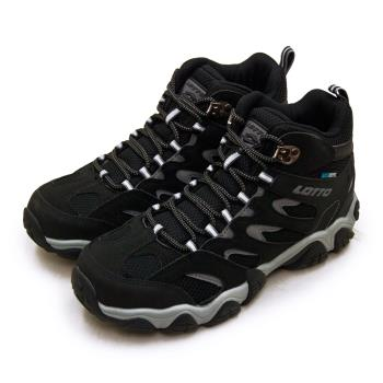 【LOTTO】男 專業多功能防水郊山戶外健行登山鞋 REX ULTRA系列(黑灰 2760)