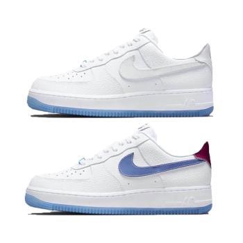Nike 休閒鞋 Air Force 1 07 LX 女鞋 經典款 熱感應變色 果凍底 皮革 穿搭 白 藍 DA8301-101 [ACS 跨運動]