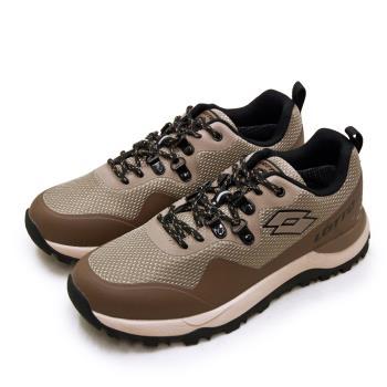 【LOTTO】男 專業防水郊山戶外越野跑鞋 FALCO隼系列(咖棕黑 2551)