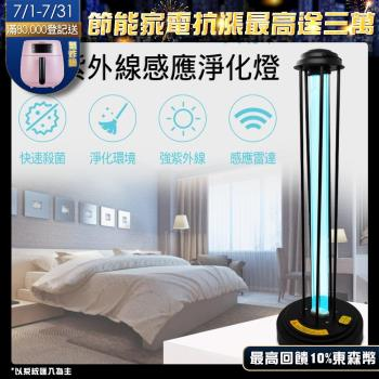 UV紫外線120W抗菌燈附專屬遙控器 人體感應雷達款