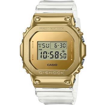 CASIO G-SHOCK 霸氣時尚金色剛G運動錶(GM-5600SG-9)