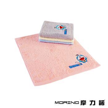 哆啦A夢Doraemon小叮噹 MIT純棉刺繡方巾/手帕 MORINO摩力諾