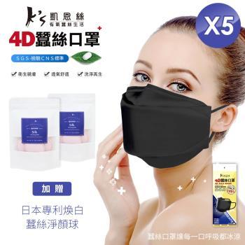 Ks凱恩絲韓國KF94專利防護100%蠶絲立體口罩-裸