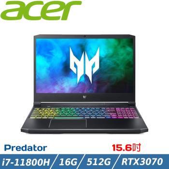 Acer宏碁 PH315-54-72VQ 獨顯電競筆電 15吋/i7-11800H/RTX3070/16G/512G SSD/W10/144Hz