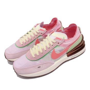 Nike 休閒鞋 Waffle One 運動 女鞋 小Sacai 透明網布 麂皮 球鞋穿搭 白 粉 DM5452-161 [ACS 跨運動]