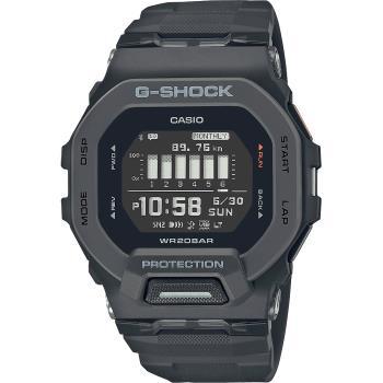 CASIO 卡西歐 G-SHOCK 纖薄運動系藍芽計時手錶-沉著黑(GBD-200-1)
