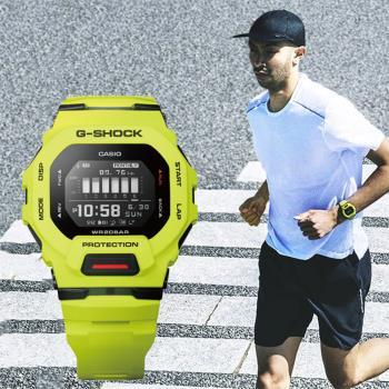 CASIO 卡西歐 G-SHOCK 纖薄運動系藍芽計時手錶-萊姆綠(GBD-200-9)