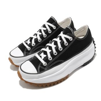 CONVERSE 帆布鞋 Run Star Hike 男女鞋 低筒 潮流 鋸齒鞋 厚底 星星 情侶 黑 白 168816C [ACS 跨運動]