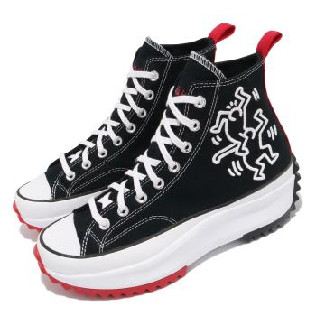 Converse 休閒鞋 Run Star Hike 穿搭 男女鞋 塗鴉藝術家 聯名 厚底 情侶款 帆布 黑 紅 171859C [ACS 跨運動]