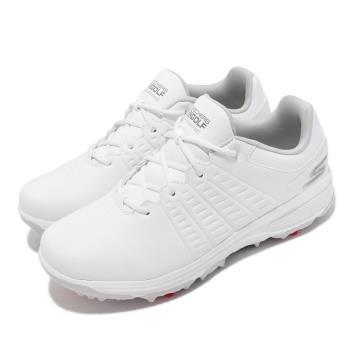 Skechers 高爾夫球鞋 Go Golf Jasmine 女鞋 防水軟釘 可更換 避震 緩衝 高抓地力 白 123001-WHT