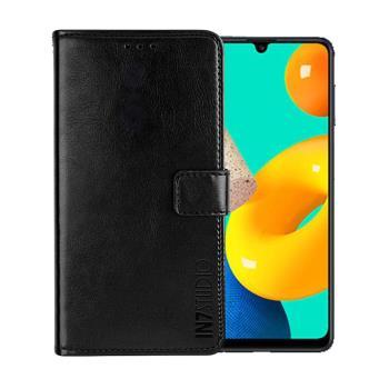 IN7 瘋馬紋 Samsung Galaxy M32 (6.4吋) 錢包式 磁扣側掀PU皮套 吊飾孔 手機皮套保護殼