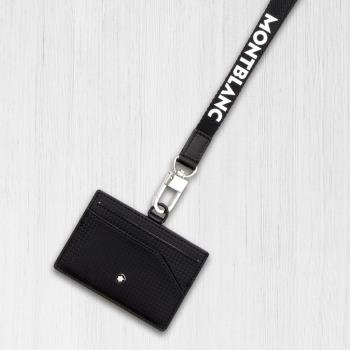 MONTBLANC 萬寶龍 Extreme 風尚系列防盜視窗證件套 / 卡夾 (附頸繩)