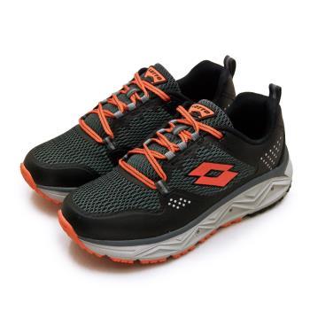 【LOTTO】男 專業郊山戶外透氣越野跑鞋 AEROVE系列(黑灰橘 3000)