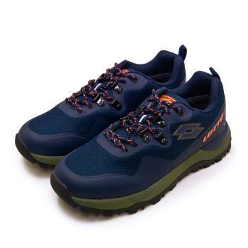 【LOTTO】男 專業防水郊山戶外越野跑鞋 FALCO隼系列(藍綠橘 2556)