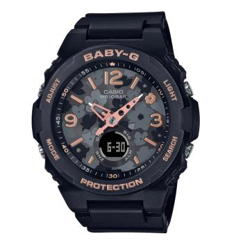 CASIO BABY-G 花卉活力雙顯腕錶 BGA-260FL-1A