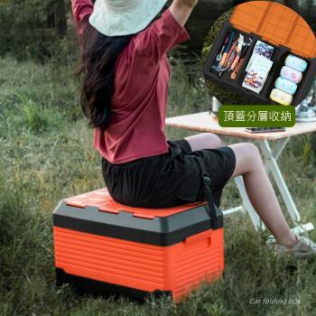 Mr.box 露營桌椅折疊收納箱-大款(橘黑色)