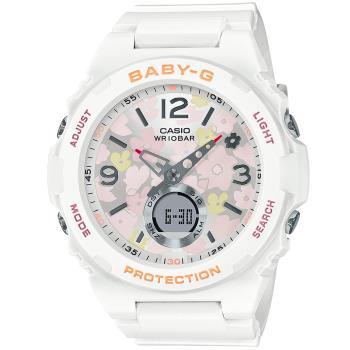 CASIO 卡西歐 Baby-G 花朵系列手錶(BGA-260FL-7A)