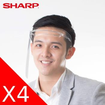 SHARP 夏普 奈米蛾眼科技防護面罩 4入